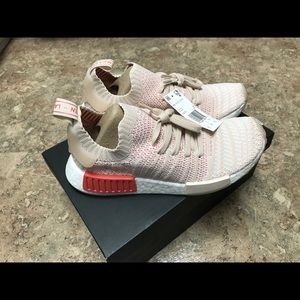 Adidas nmd r1 STLT primeknit sneakers linen 8.5
